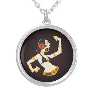 Colar Banhado A Prata dançarino de barriga tribal da fusão com pratos