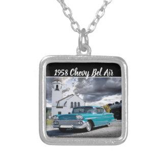 Colar Banhado A Prata De Chevy do Bel Air do carro depósito 1958 de trem