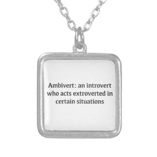 Colar Banhado A Prata Definição de Ambivert