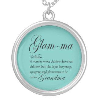 Colar Banhado A Prata Definição GLAM da avó das MÃES