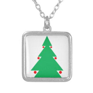 Colar Banhado A Prata Design 8,5 da árvore de Natal em 8,5 o 21 de