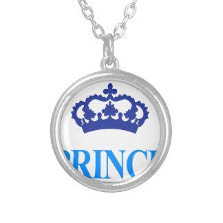 Colar Banhado A Prata design bonito legal do príncipe herdeiro