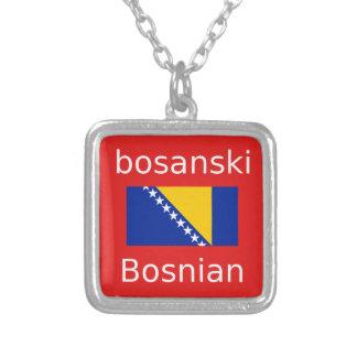 Colar Banhado A Prata Design bosniano da língua