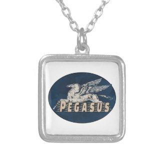 Colar Banhado A Prata Design de Pegasus do vintage