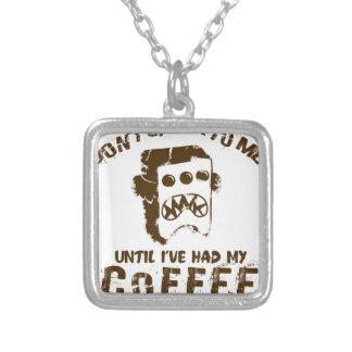 Colar Banhado A Prata design do café
