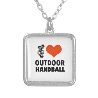 Colar Banhado A Prata Design do handball