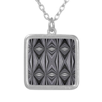 Colar Banhado A Prata Design monocromático do diamante