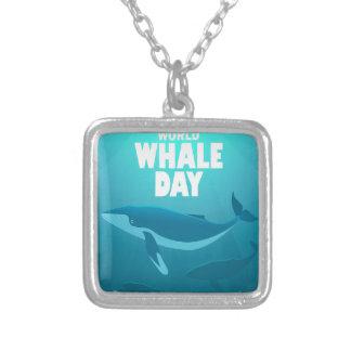 Colar Banhado A Prata Dia da baleia do mundo - dia da apreciação