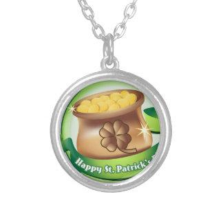 Colar Banhado A Prata Dia de São Patrício feliz, feriado irlandês do