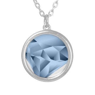 Colar Banhado A Prata Diamante
