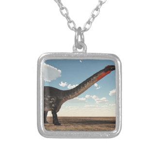 Colar Banhado A Prata Dinossauro do Apatosaurus - 3D rendem