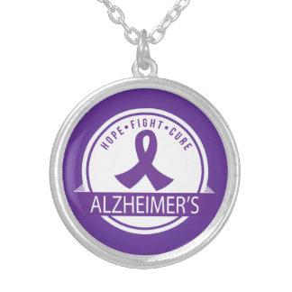 Colar Banhado A Prata Doença de Alzheimer da cura da luta da esperança