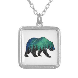 Colar Banhado A Prata Domínio do urso