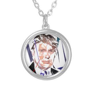 Colar Banhado A Prata Donald Trump