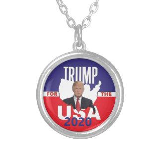 Colar Banhado A Prata Donald Trump 2020