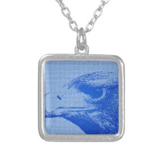 Colar Banhado A Prata Eagle abstrato 2