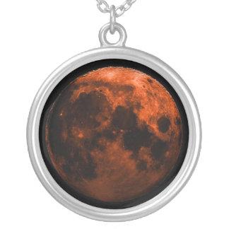 Colar Banhado A Prata Eclipse lunar total 12/20/2010