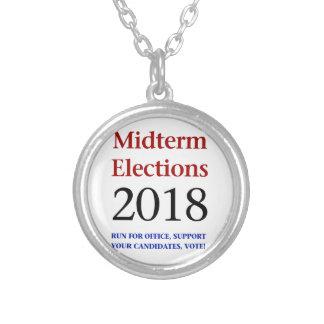 Colar Banhado A Prata Eleições Midterm 2018