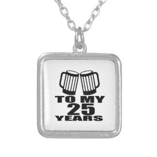 Colar Banhado A Prata Elogios a meus 25 anos do aniversário
