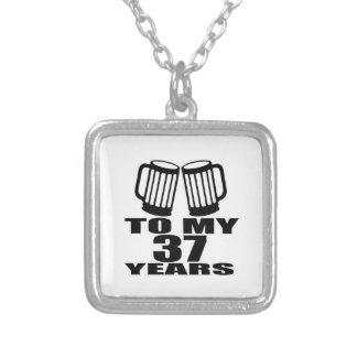 Colar Banhado A Prata Elogios a meus 37 anos do aniversário