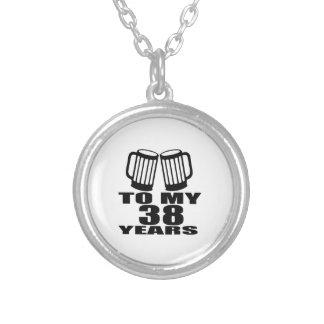 Colar Banhado A Prata Elogios a meus 38 anos do design do aniversário