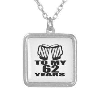 Colar Banhado A Prata Elogios a meus 62 anos do aniversário