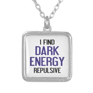 Colar Banhado A Prata Energia escura