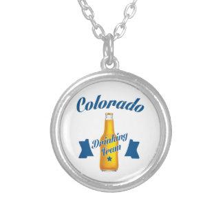 Colar Banhado A Prata Equipe do bebendo de Colorado