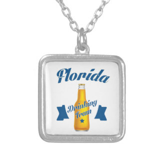 Colar Banhado A Prata Equipe do bebendo de Florida