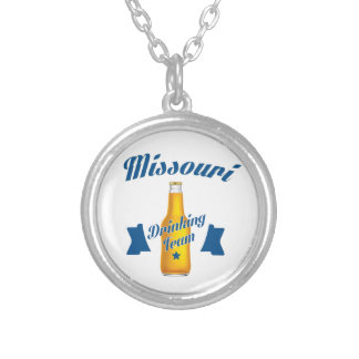 Colar Banhado A Prata Equipe do bebendo de Missouri