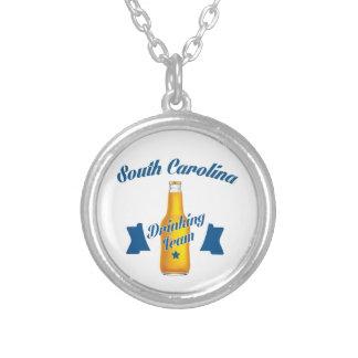 Colar Banhado A Prata Equipe do bebendo de South Carolina