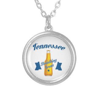 Colar Banhado A Prata Equipe do bebendo de Tennessee