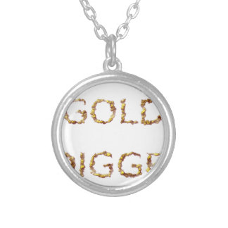 Colar Banhado A Prata Escavador de ouro