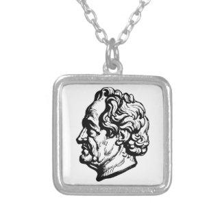 Colar Banhado A Prata Escritor alemão Goethe