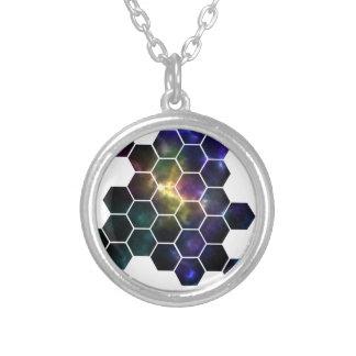 Colar Banhado A Prata espaço geométrico