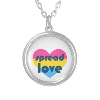 Colar Banhado A Prata Espalhe o amor Pansexual