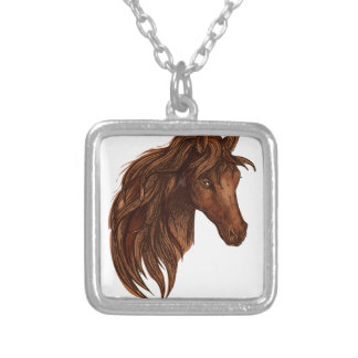 Colar Banhado A Prata Esporte do cavalo dos cavalos