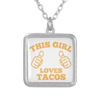 Colar Banhado A Prata Esta menina ama o Tacos