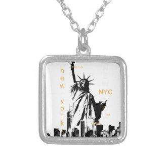 Colar Banhado A Prata Estátua da liberdade de Ny Nyc da Nova Iorque
