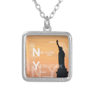 Colar Banhado A Prata estátua da liberdade ny EUA da Nova Iorque