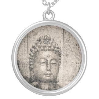 Colar Banhado A Prata Estilo de Buddha do vintage