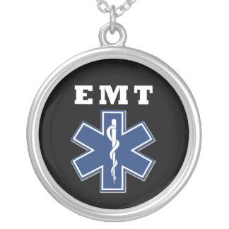 Colar Banhado A Prata Estrela azul de EMT da vida
