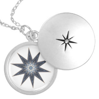 Colar Banhado A Prata Estrela da luz do ponto de Pemaquid