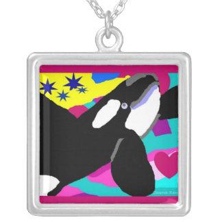 Colar Banhado A Prata Estrela da orca do mar