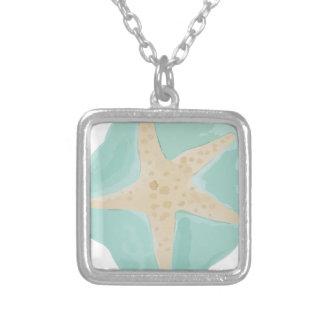 Colar Banhado A Prata Estrela do mar