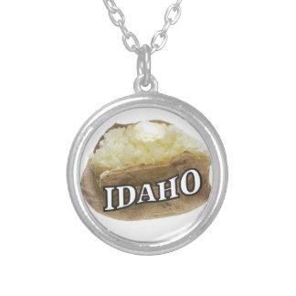 Colar Banhado A Prata Etiqueta da batata de Idaho