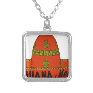 Colar Banhado A Prata Etiqueta do viagem do Sombrero de Tijuana