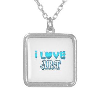 Colar Banhado A Prata Eu amo a arte