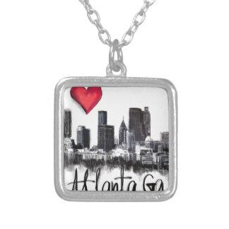Colar Banhado A Prata Eu amo Atlanta