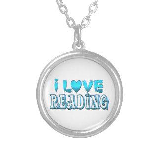 Colar Banhado A Prata Eu amo ler